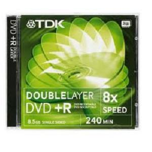 TDK DVD+R 8,5GB Dual Layer