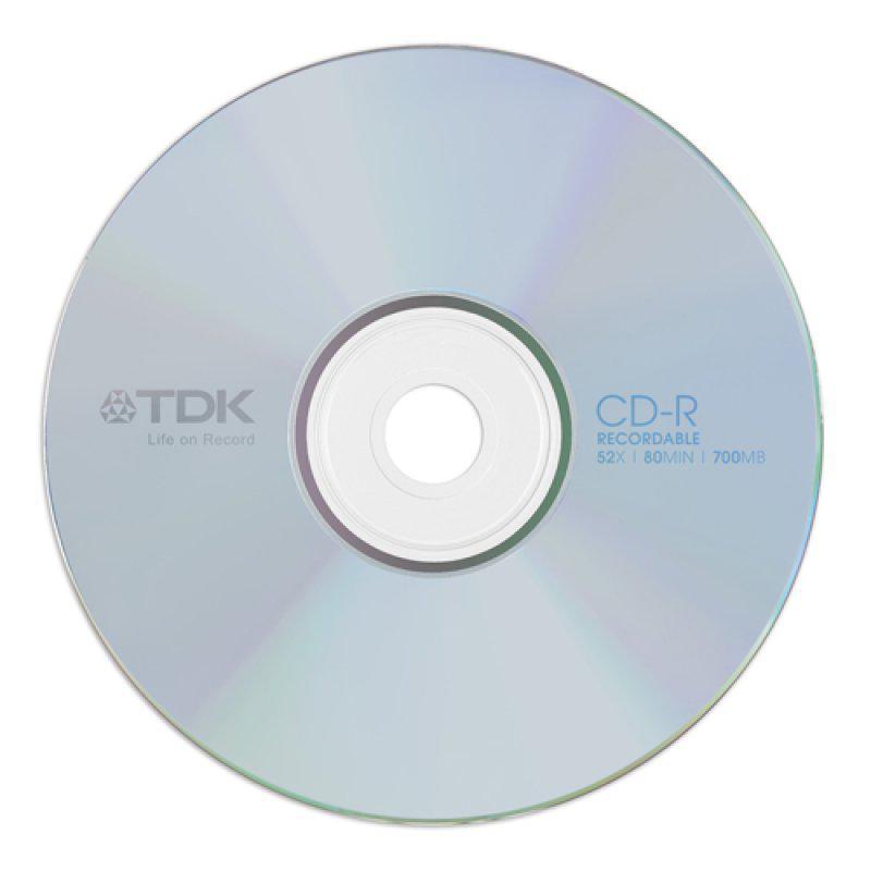 TDK írható CD-R80 52X papírtok