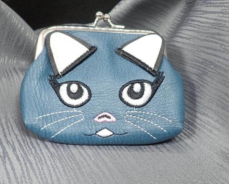 Cicás pénztárca, sötétebb kék