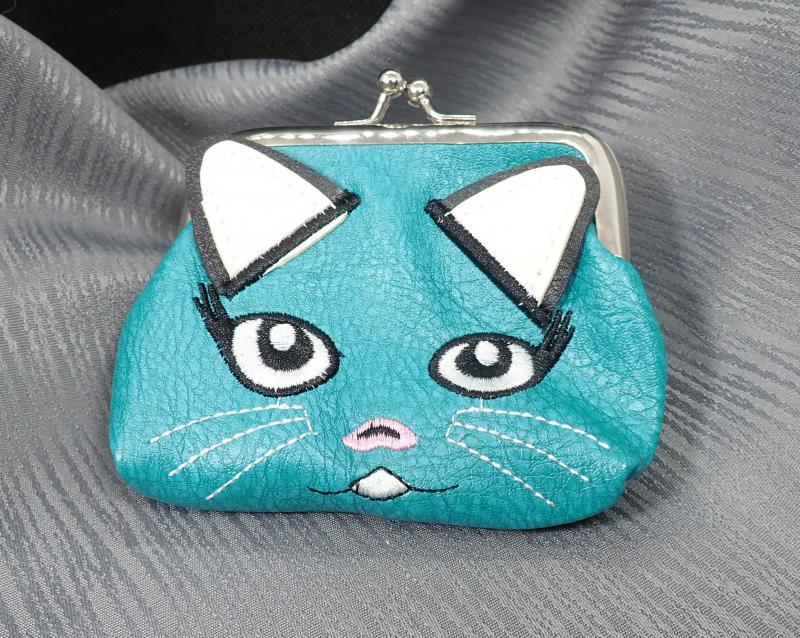 Cicás pénztárca, türkiz színű