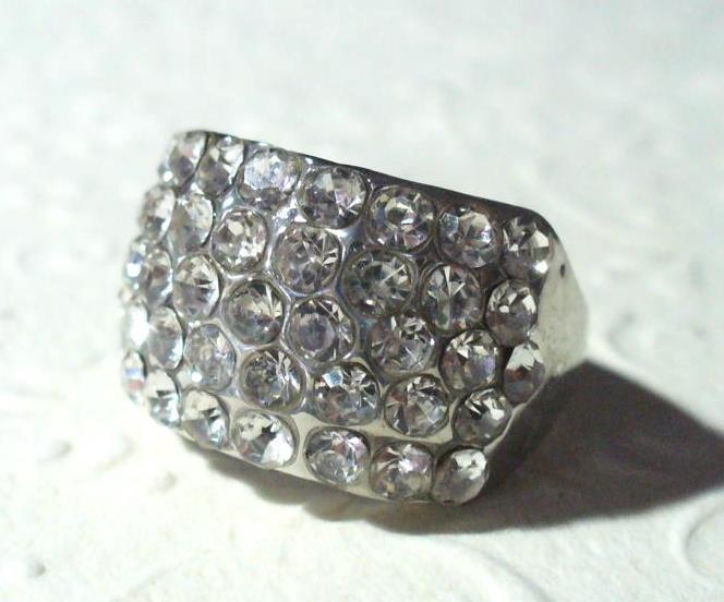 Csillogó 5 soros gyűrű 1