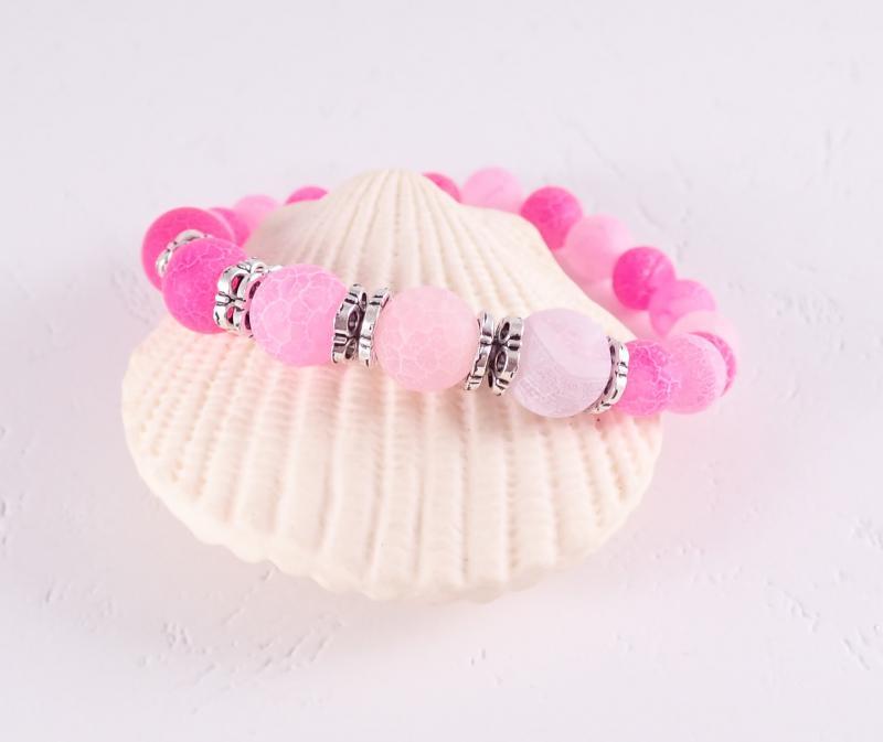 Csupa rózsaszín karkötő