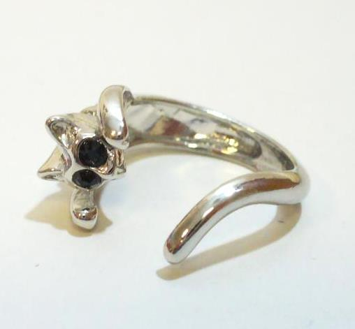 Ezüst cica gyűrű