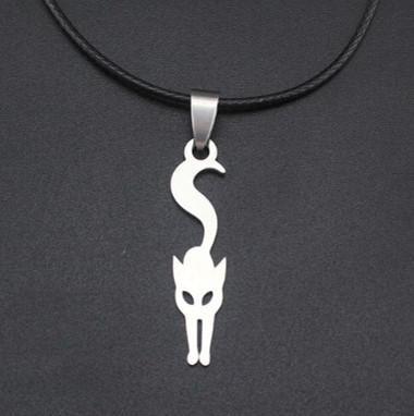 Ezüst színű cica medál