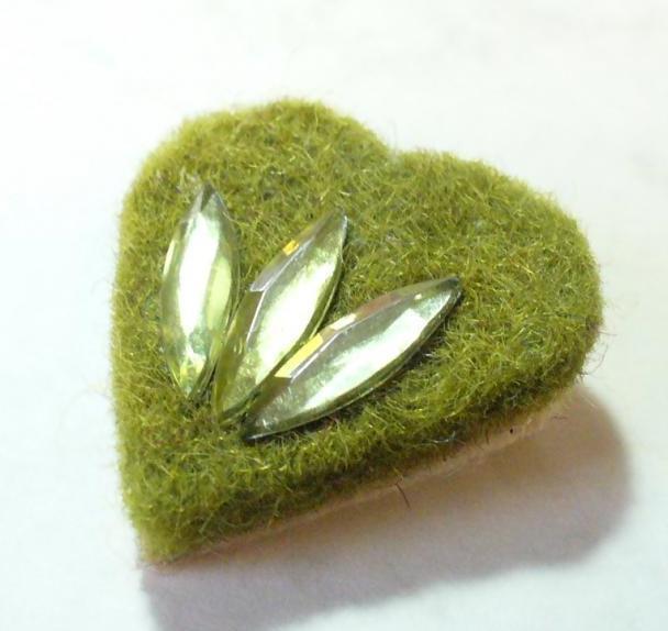Mohazöld szív