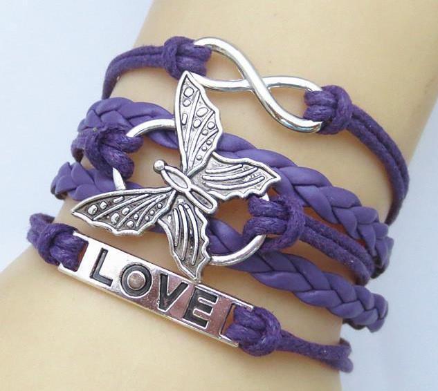 Pillangós, fonott, lila