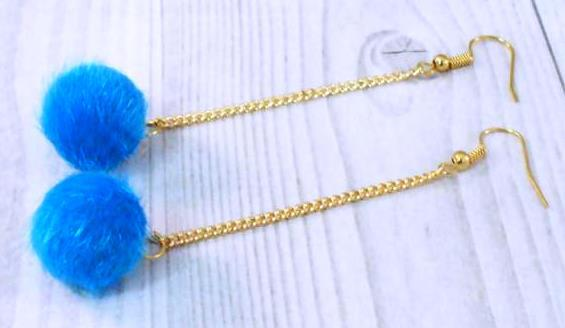 Pompomos, kék