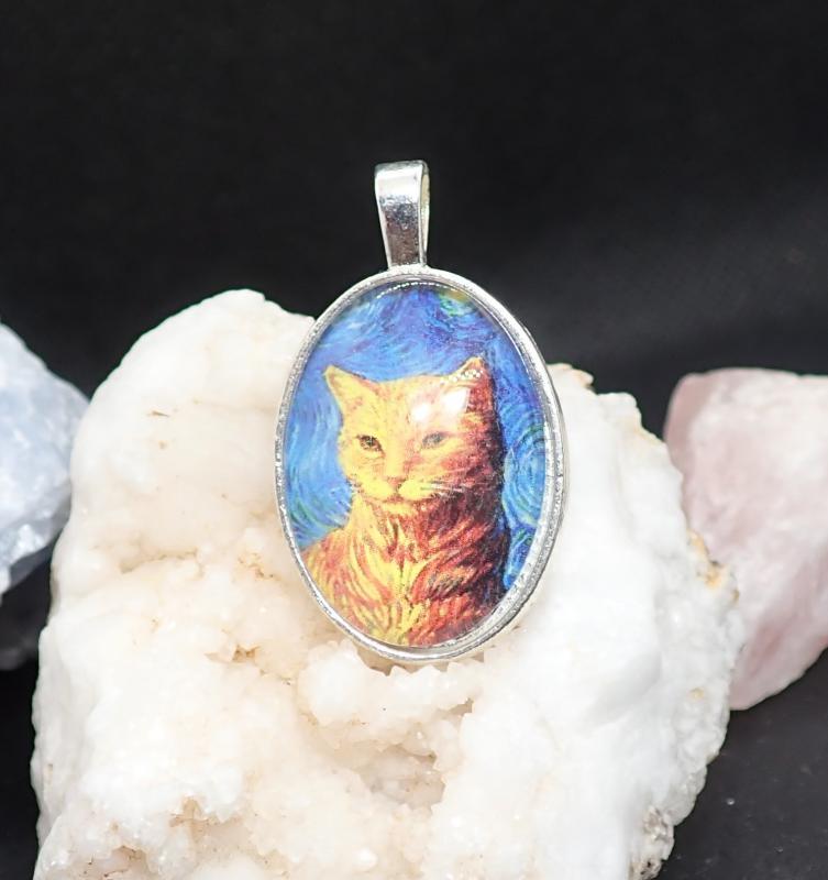 Vörös cica portréja,  medál