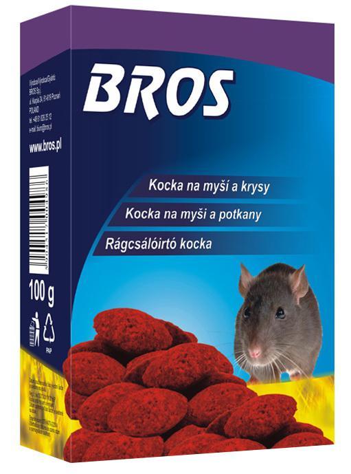 B054 Rágcsálóirtó kocka 100 gr egér és patkány ellen