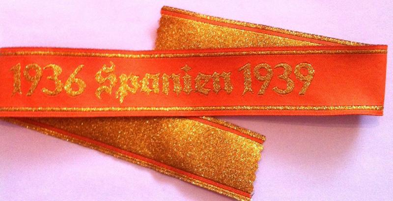 1936 Spanien 1939 antibolsevista hadjárat mandzsettaszalag Legion Condor