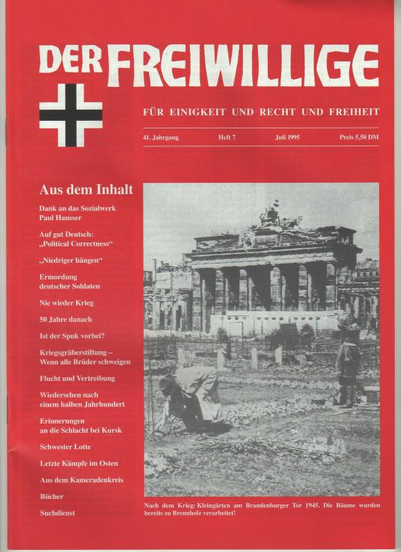 Der Freiwillige juli. 1995