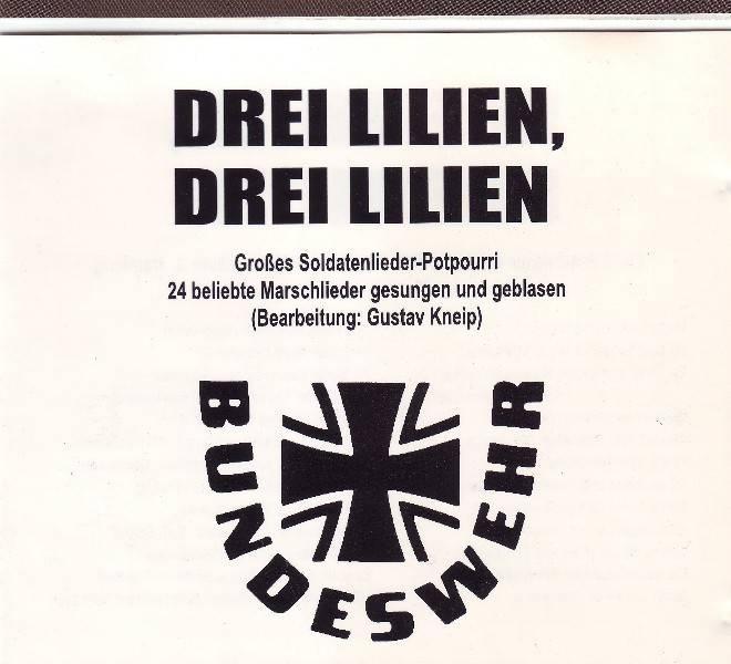 Drei Lilien, Drei Lilien Bundeswehr német indulók CD SZTEREO