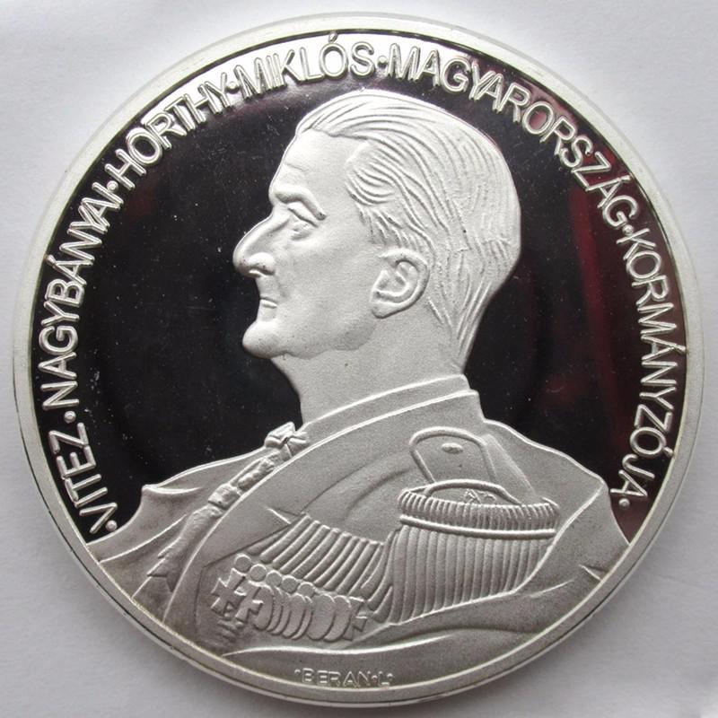 Horthy Miklós emlékérem tükörveret Berán