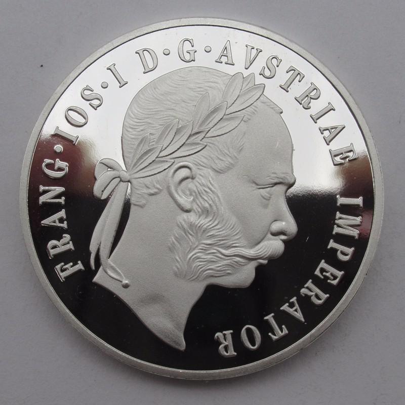 I. Ferenc József magyar király emlékérem, ezüstözött UV