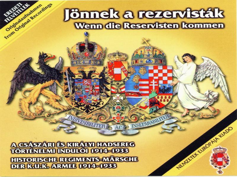 Jönnek a rezervisták 1914-1933 CD - Wenn die Reservisten kommen
