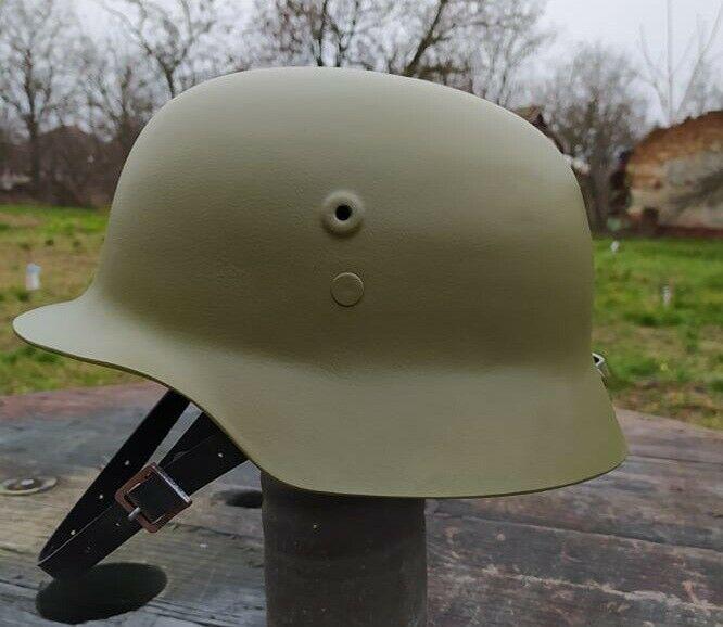 Magyar M35 plasztik sisak reprodukció bőr belsővel