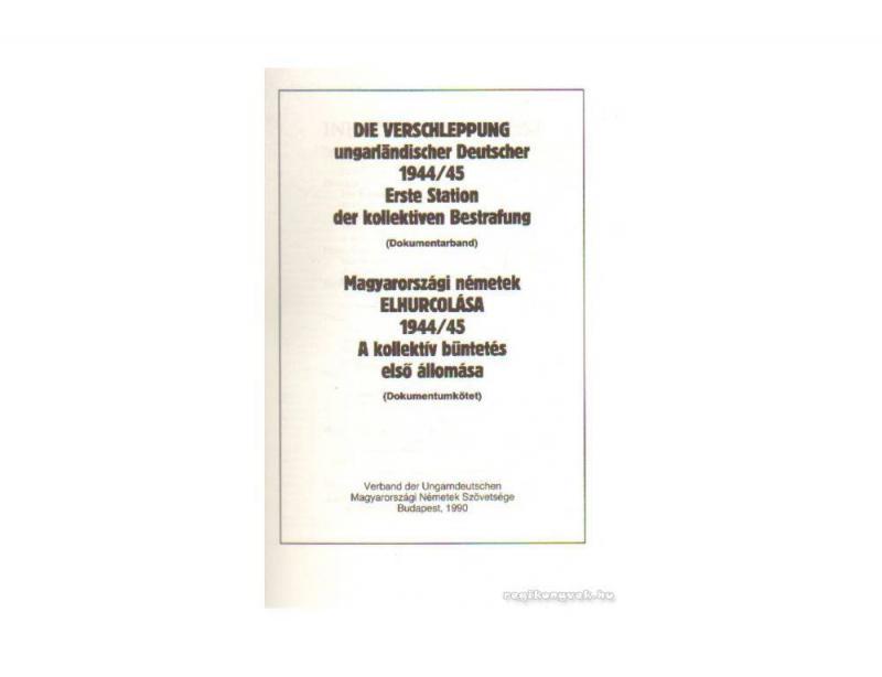 Magyarországi németek elhurcolása 1944/45