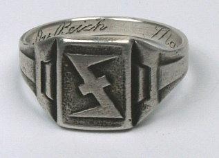 Német Waffen-SS Das Reich bajtársi közösség gyűrű