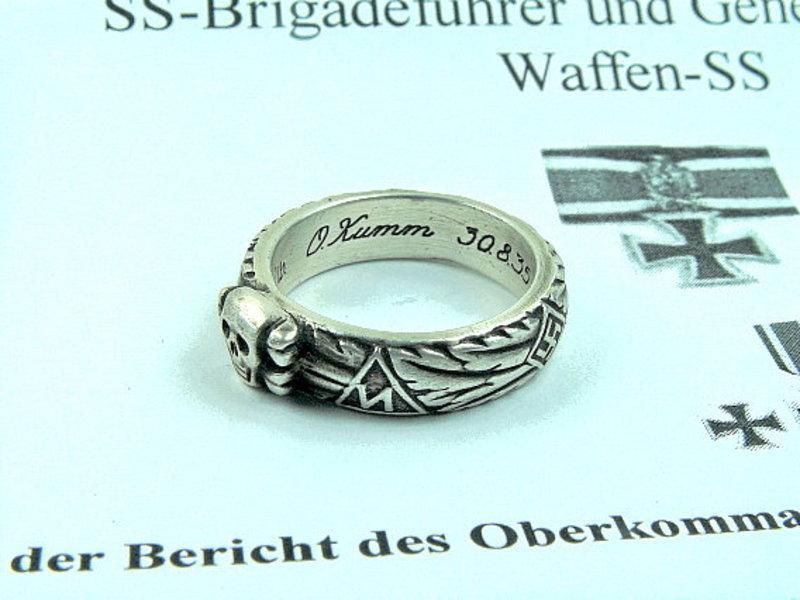 SS Totenkopfring O. Kumm becsületgyűrű hűséggyűrű