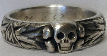"""SS Totenkopfring """"Krüger"""" becsületgyűrű hűséggyűrű"""