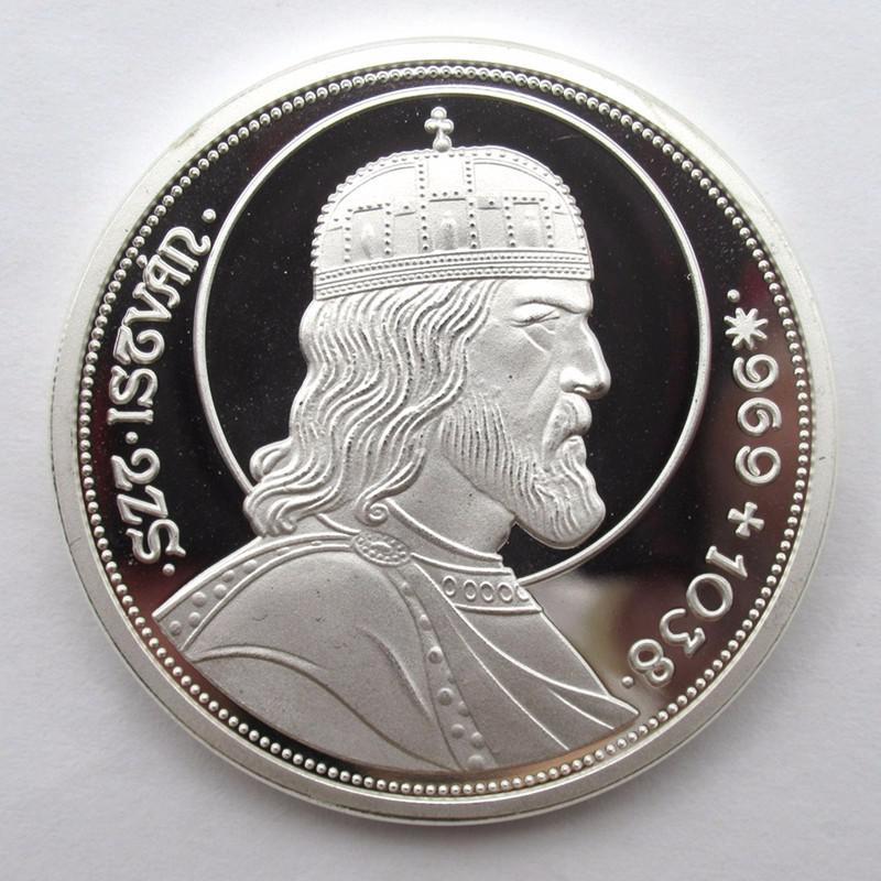 Szent István ezüstözött emlékérem 969-1038