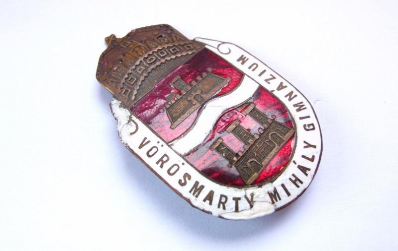 Vörösmarty Mihály gimnázium bronz jelvény 1930