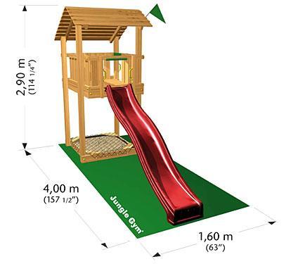 Jungle Gym SHELTER, M csúszda torony 2,65 m-es csúszdával