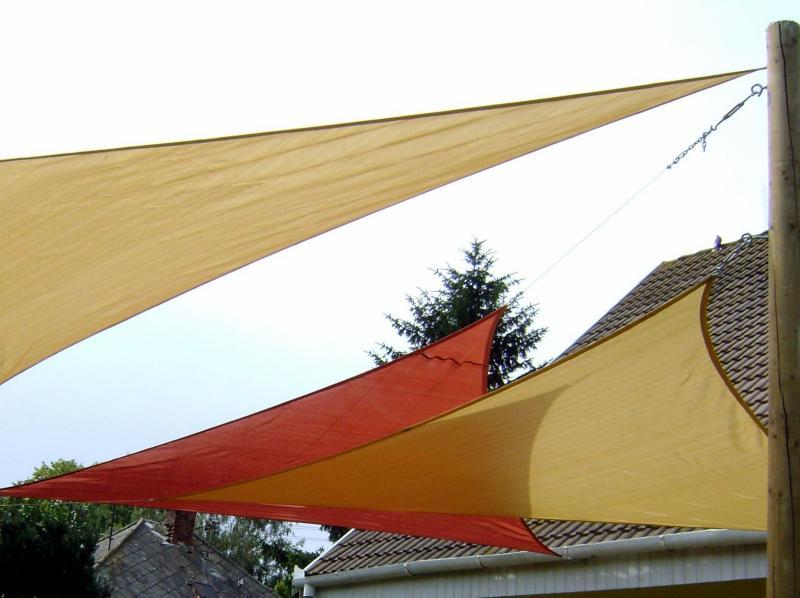 FullGarden háromszög vitorla 5 x 5 x 7 m, 185 g/m2