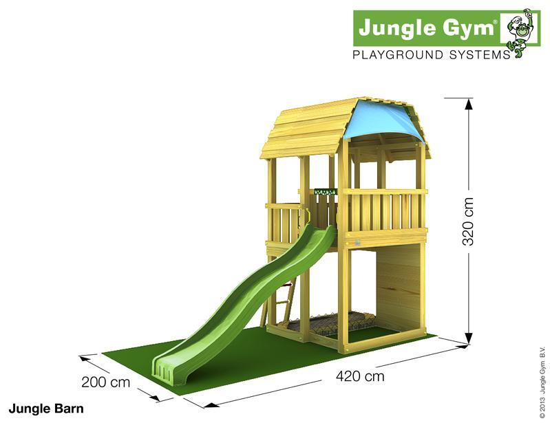 Jungle Gym BARN, XL csúszda torony 2,65 m-es csúszdával