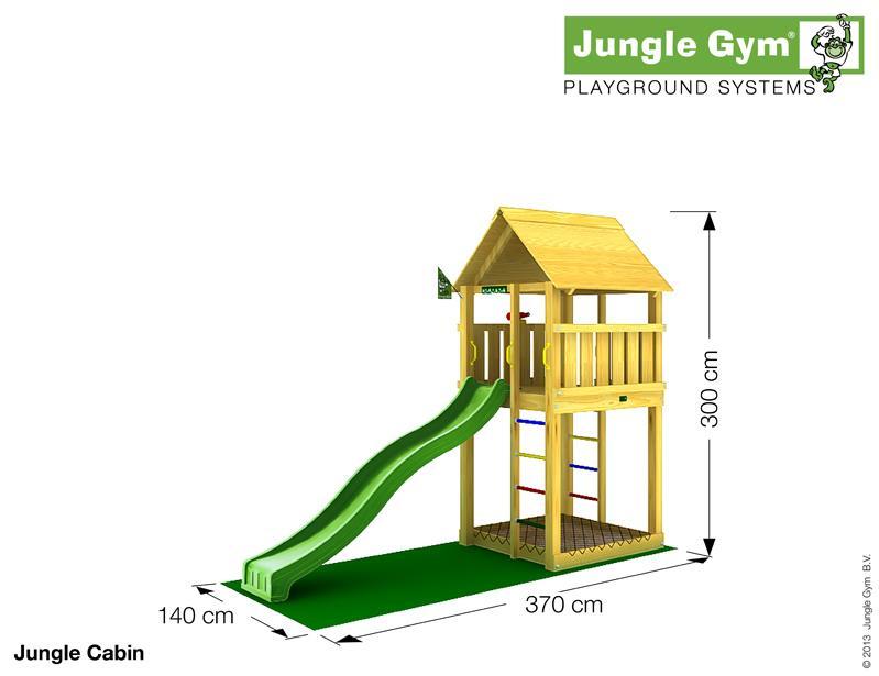 Jungle Gym CABIN, M csúszda torony 2,65 m-es csúszdával