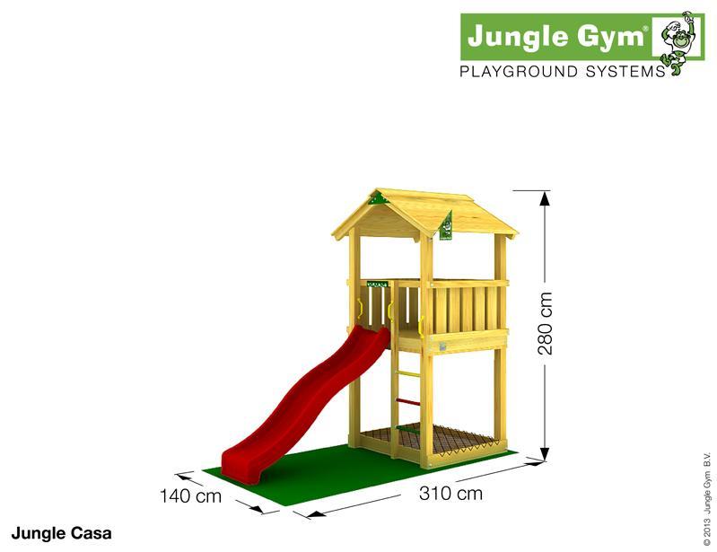 Jungle Gym CASA, S csúszda torony 2,2 m-es csúszdával