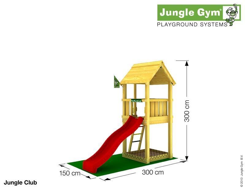 Jungle Gym CLUB, S csúszda torony 2,2 m-es csúszdával