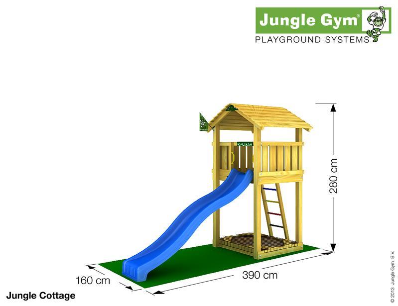 Jungle Gym COTTAGE, M csúszda torony 2,65 m-es csúszdával