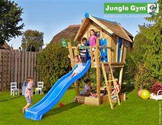 Jungle Gym CRAZY játszóház, XL, nagy terasszal, 3 méteres csúszdával