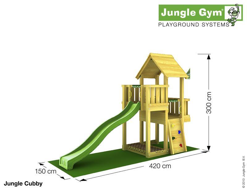 Jungle Gym CUBBY, M csúszda torony 2,65 m-es csúszdával
