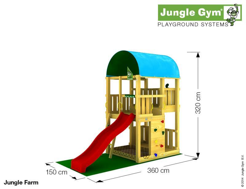 Jungle Gym FARM, XL csúszda torony 2,65 m-es csúszdával