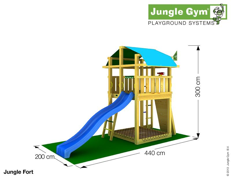 Jungle Gym FORT, L csúszda torony 2,65 m-es csúszdával