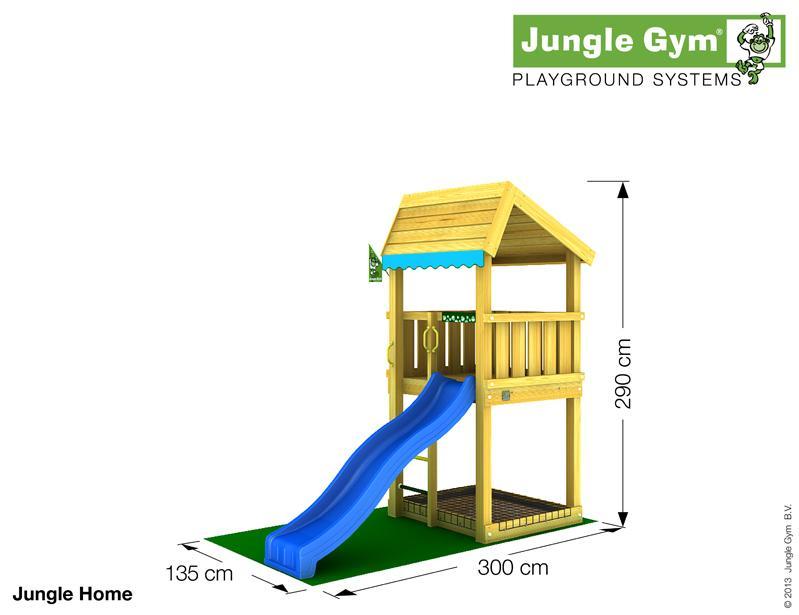 Jungle Gym HOME csúszda torony 2,2 m-es csúszdával