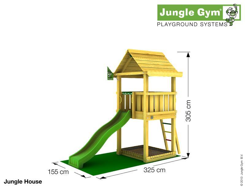 Jungle Gym HOUSE csúszda torony 2,2 m-es csúszdával