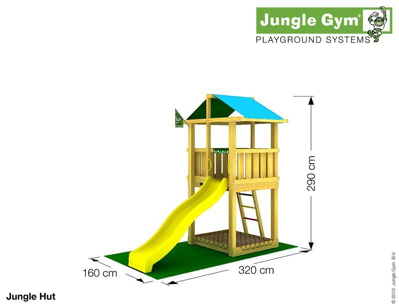 Jungle Gym HUT, S csúszda torony 2,2 m-es csúszdával