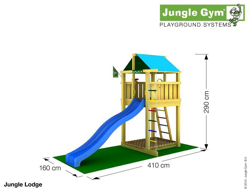 Jungle Gym LODGE, M csúszda torony 2,65 m-es csúszdával