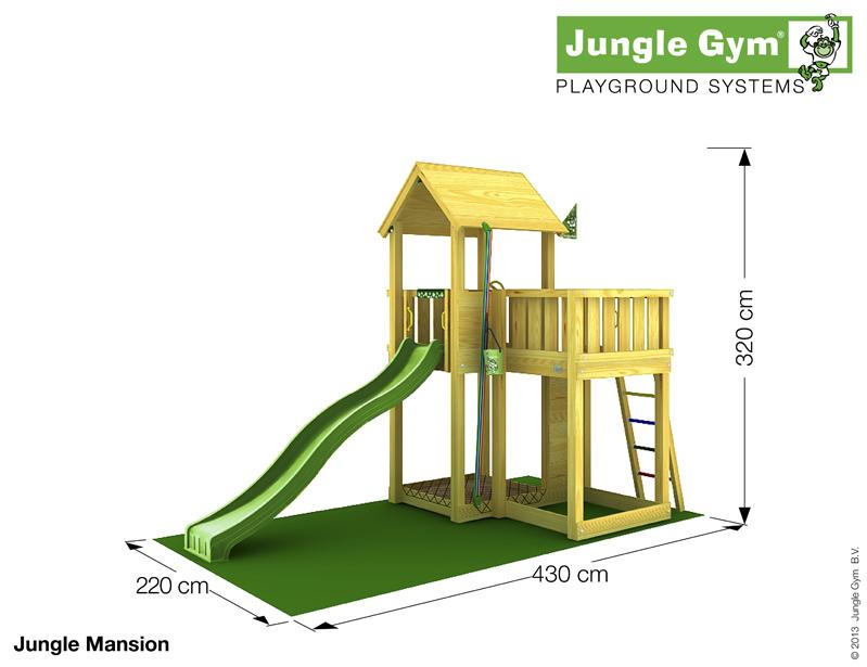 Jungle Gym MANSION, XL csúszda torony 2,65 m-es csúszdával