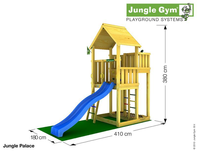 Jungle Gym PALACE, XL csúszda torony 2,65 m-es csúszdával