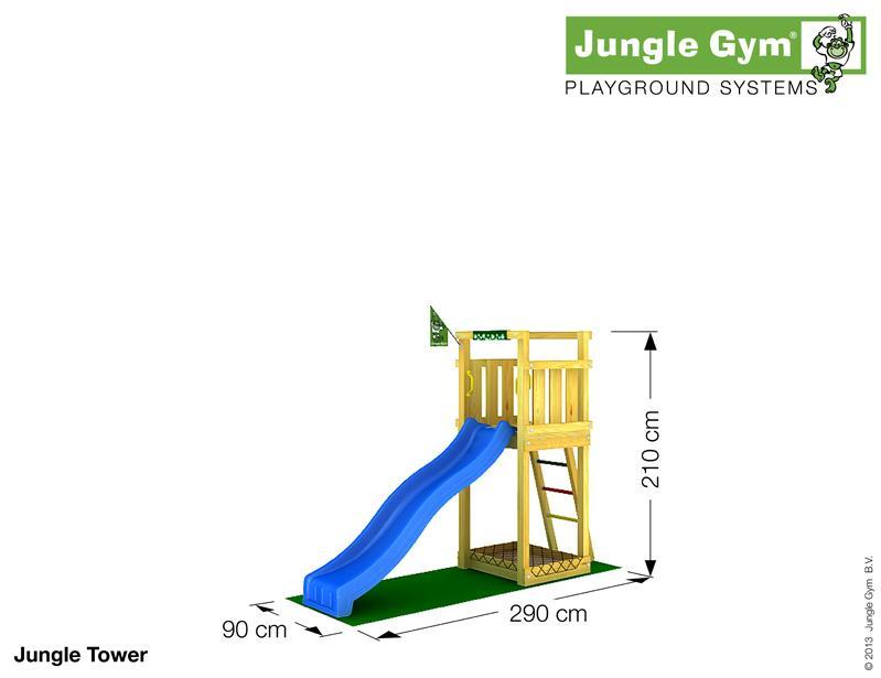 Jungle Gym TOWER, XS csúszda torony 2,2 m-es csúszdával