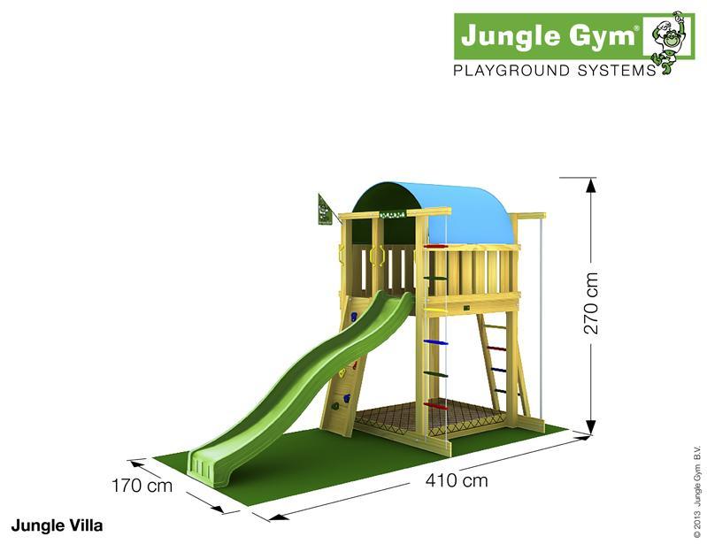Jungle Gym VILLA, L csúszda torony 2,65 m-es csúszdával