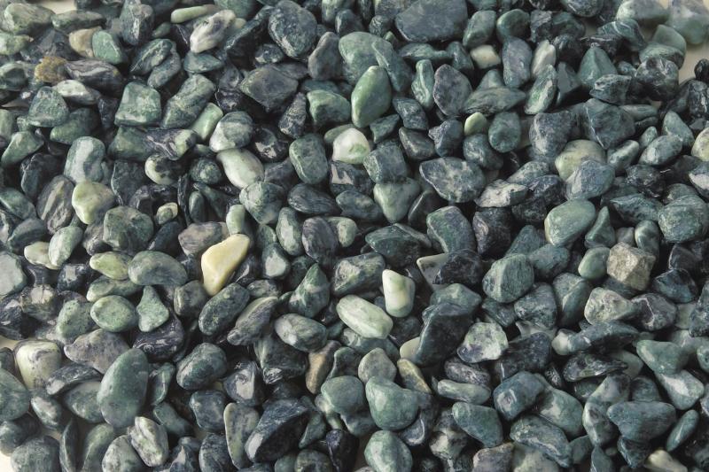 Márvány díszkavics, alpesi zöld, 7-15 mm, 25 kg/zsák