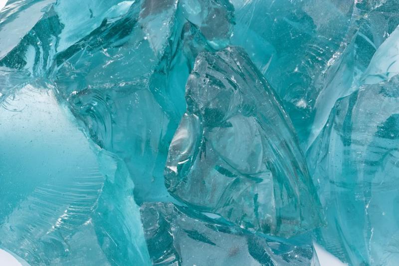 Üvegtömb, tahiti-türkiz 20-50 cm