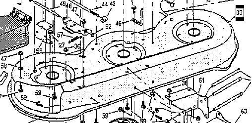 """Fűnyíró ház üres 3 késes 42"""", 107cm -93086,93086E700 - Szállítási díj 5.000.- forint +ÁFA"""