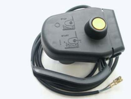 Schunk (Schuko) elektromos kapcsoló vezetékkel, sárga gombos - normál verzió
