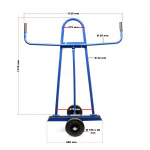 Gipszkarton szállító kézikocsi, molnárkocsi 340 kg terhelhetőség